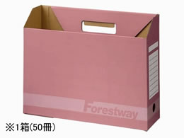 Forestway ボックスファイルE 背幅100mm ピンク 50冊