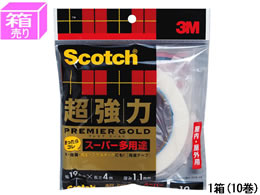 3M スコッチ 超強力両面テープスーパー多用途 19mm*4m 10巻