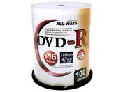 ALL-WAYS DVD-R 4.7GB 16倍速 100枚