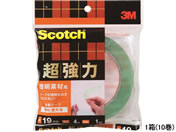 3M/スコッチ 超強力両面テープ 透明素材用 19mm×4m 10巻