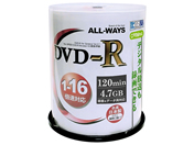 ALL-WAYS CPRM対応DVD-R4.7GB 16倍速 100枚