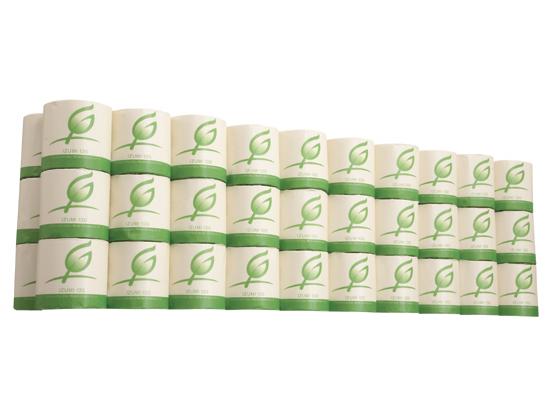 Forestway/ 【ココデカウ】 個包装65m 100ロール トイレットペーパー (エンボス加工)